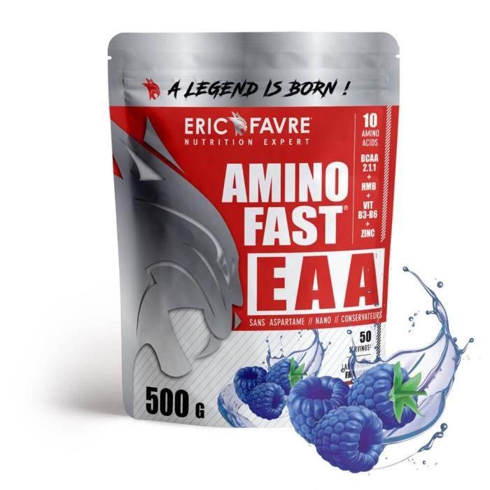 Eric Favre - Amino Fast® EAA - Bcaa & Acides Amines - Blue raspberry - 500g