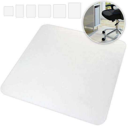 Tapis Protège-Sol 90x120cm | Antidérapant, Blanc, pour Parquets et Stratifiés | Protection Sol Dur, Chaise de Bureau