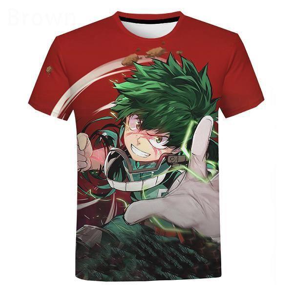 3D T-shirt,Nouveau Anime Mon Héros Universités 3D T-shirt Deku Imprimer Harajuku T-shirt Streetwear Hommes Femmes Mode Décontracté
