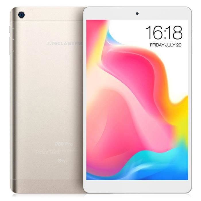 OHP Teclast P80 Pro Tablette PC 8.0 pouces Android 7.0 MTK8163 1.3GHz 3GB RAM 16GB K