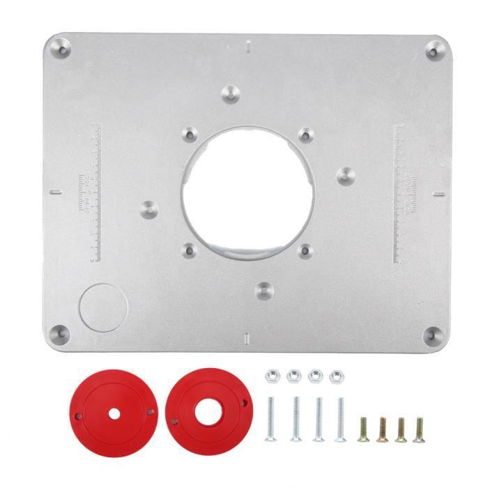 Plaque d'Insertion de Table de Routeur en Aluminium Plaque Insérer Charpenterie DIY 300 * 235 * 9.5mm---SHY