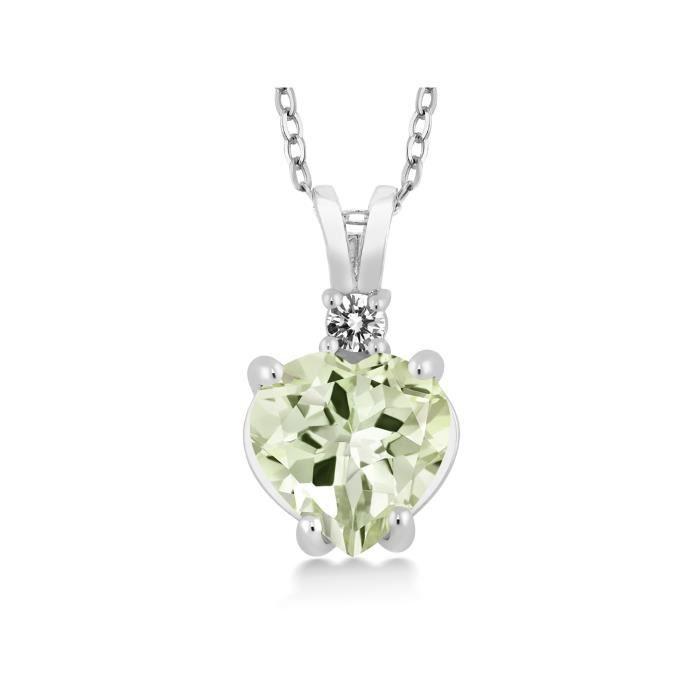 14K Jaune//Or Blanc Naturel Péridot /& Diamant Charme Pendentif Pour Collier nouveau