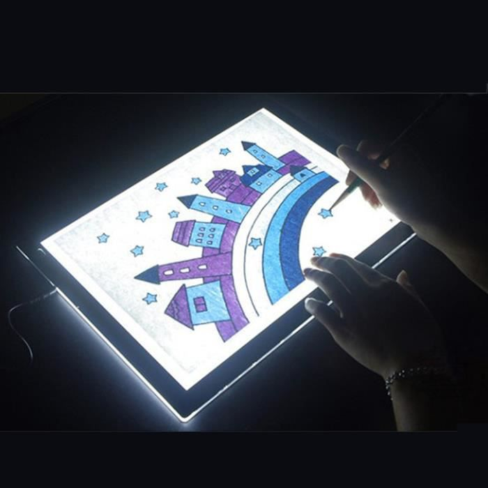 a4 table lumineuse led sketchpad tableau bo te lumi re 26cmx36cm achat vente table a. Black Bedroom Furniture Sets. Home Design Ideas