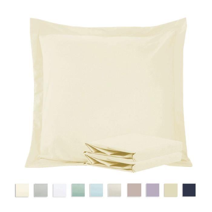 """Nouveau poly coton marron 19/"""" x 54/"""" taie d/'oreiller traversin case"""