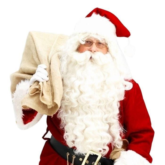 CHAPEAU - PERRUQUE Père Noël perruque + Barbe Costume Set d'accessoir