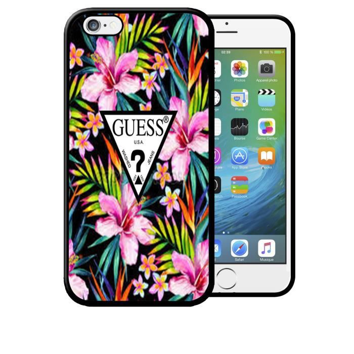 Coque Samsung Galaxy S7 EDGE Guess Fleurs Flowers