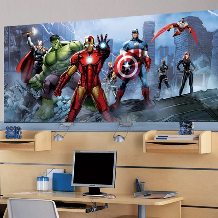 poster g ant quipe avengers marvel achat vente affiche poster cdiscount. Black Bedroom Furniture Sets. Home Design Ideas