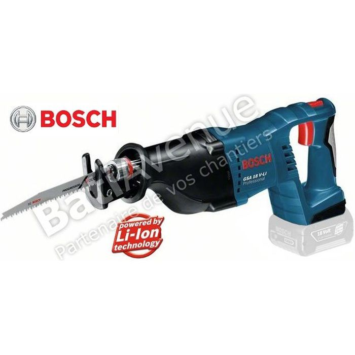 bosch outillage scie sabre sans fil gsa 18 v l achat vente scie lectrique cdiscount. Black Bedroom Furniture Sets. Home Design Ideas