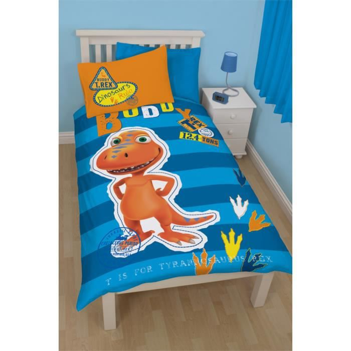 parure de lit r versible dino train buddy achat vente. Black Bedroom Furniture Sets. Home Design Ideas