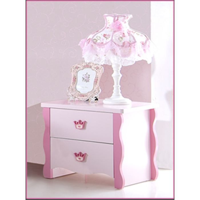 Table de chevet pour chambre fille princess rose achat for Table de chevet bebe