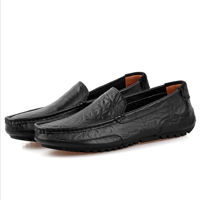 Moccasins homme Marque De Luxe Moccasin Cuir Nouvelle Mode 2017 ete Moccasins homme Loafer Confortable Grande Taille 44