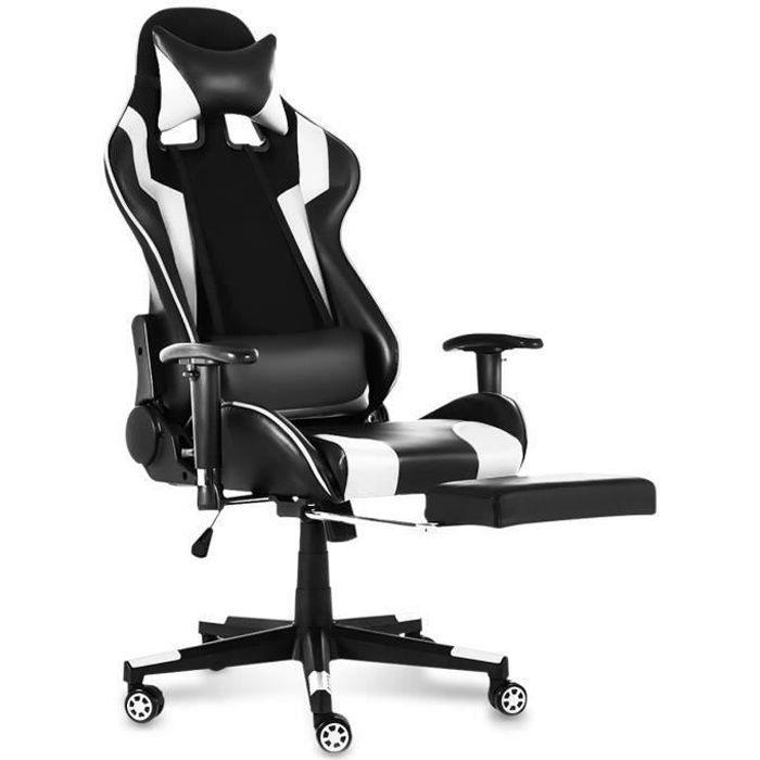 CHAISE DE BUREAU TEMPSA Chaise de Bureau Gamer - Réglable à 180° -
