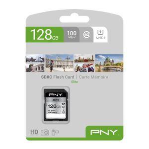CARTE MÉMOIRE PNY Carte mémoire SD 128GB ELITE C10 U1