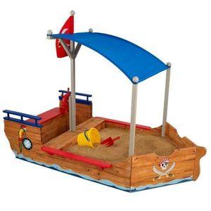 BAC À SABLE KIDKRAFT - Bac à sable en bois Bateau de pirate