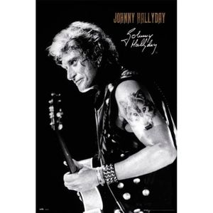 AFFICHE - POSTER Poster Johnny Hallyday - Signature (91 x 61 cm)