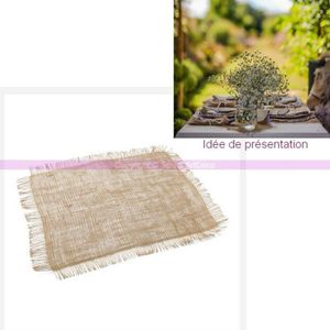 serviette jetable set de table en toile de jute ffile 45x35cm dc