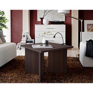 TABLE BASSE Table basse carrée laminée wengé PIKO 60x45x60 cm