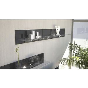 etageres metal verre achat vente pas cher. Black Bedroom Furniture Sets. Home Design Ideas