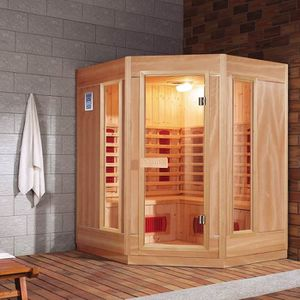 sauna infrarouge 3 4 places achat vente sauna infrarouge 3 4 places pas cher cdiscount. Black Bedroom Furniture Sets. Home Design Ideas