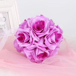 FLEUR ARTIFICIELLE Pourpre  Bouquet de mariage boule de rose fleur ar