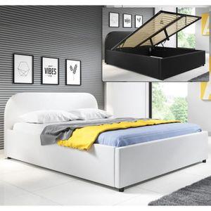 STRUCTURE DE LIT Lit coffre design Lexy – blanc (150X190cm)