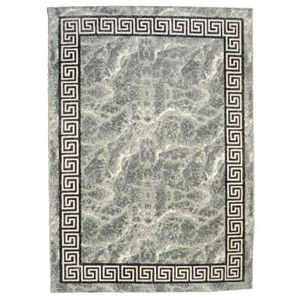 TAPIS BAHIA Tapis de salon 200x290 cm gris, noir et or