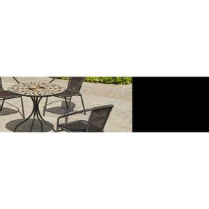 Table de jardin ronde mosaique