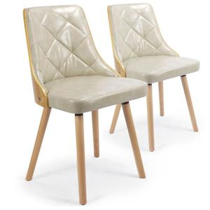 CHAISE Lot De 2 Chaises Scandinaves Lalix Chne Clair C
