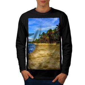 utilisation durable site réputé grande remise Côte Mer Photo La nature Ocan Côte Men S-2XL T-shirt à manches longues |  Wellcoda