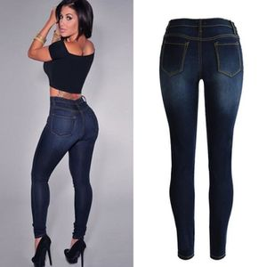 JEANS Femmes Sexy Slim Leggings Jeans Jeggings Stretch S