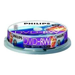 CD - DVD VIERGE Philips DN4S4B10F - 10 x DVD-RW - 4.7 Go ( 120 mi…