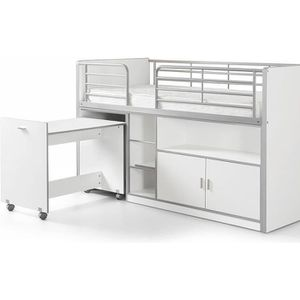 LIT MEZZANINE Vipack Lit Mezzanine + Bureau + Rangement 90x 200