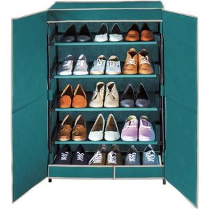Meuble a chaussures tissus achat vente meuble a - Meuble rangement chaussures paires ...