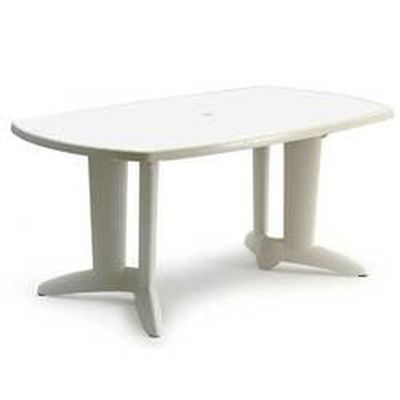 Table jardin Canasta 2 - 170 x 95 cm blanche - Achat / Vente table ...