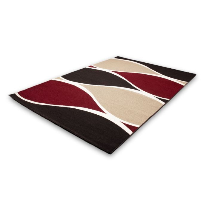 tapis moderne 200x290 rouge achat vente tapis cdiscount. Black Bedroom Furniture Sets. Home Design Ideas