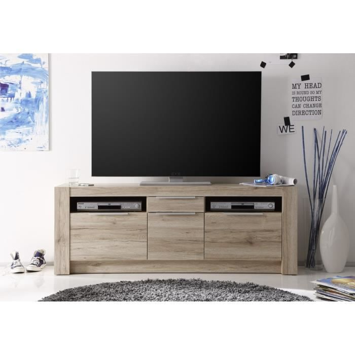 cougar grand meuble tv 161cm marron achat vente. Black Bedroom Furniture Sets. Home Design Ideas