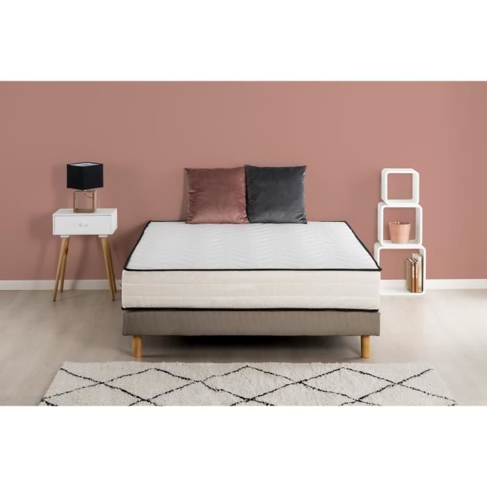 Deko dream hotel seasons ensemble matelas sommier mousse pu 28 kg m3 - Matelas qualite hotel ...