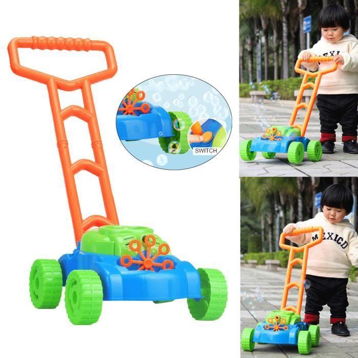 Nouvelle voiture pour enfants anti-éclaboussures bulles tondeuse à gazon en plein air jouets de jardin amusant m3460