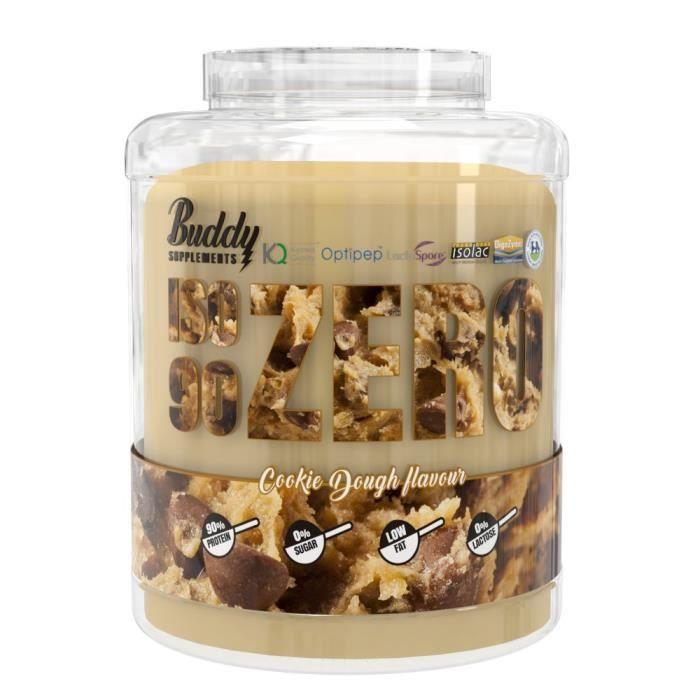 Iso Zero 90 2kg COOKIES DOUGH Buddy Supplements 90% Proteine Isolat de Whey Isolac Optipep