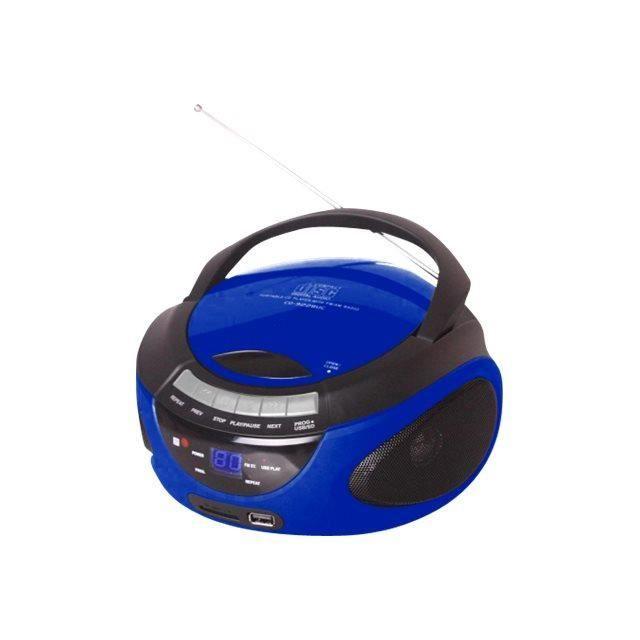 Metronic Radio CD-MP3 Bluetooth Boombox 2 Watt bleu
