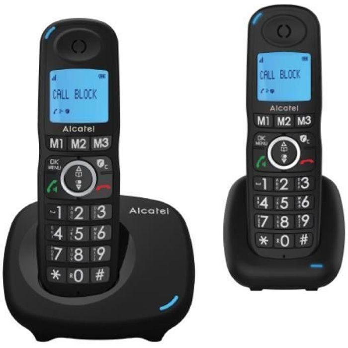 TÉLÉPHONIE, Téléphones, Téléphone sans fil, Alcatel Dect Xl535 Duo Black