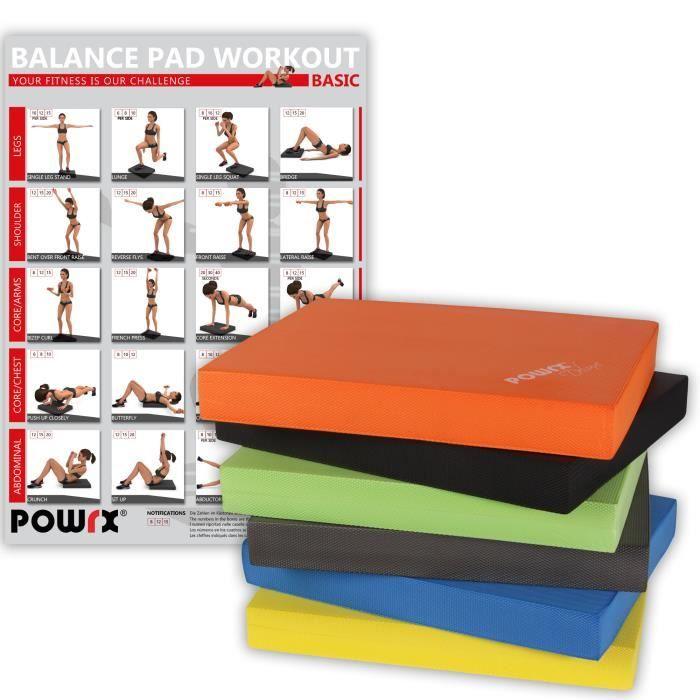 Balance Pad Deluxe en différentes couleurs / Tapis d´entraînement/ Coussin d´équilibre Couleur:Orange
