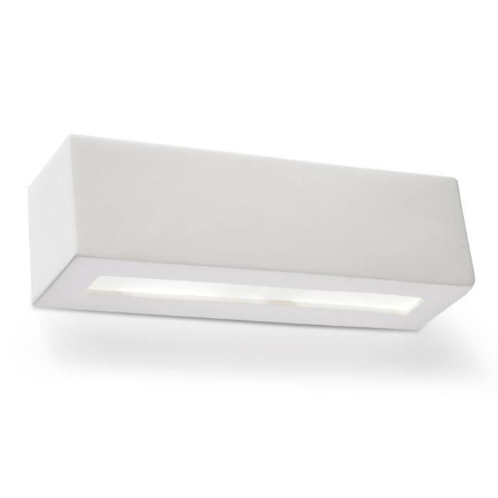 Applique Murale Céramique VEGA Lampe Murale Moderne Design pr Chambre Salon Escalier Couloir - Blanc