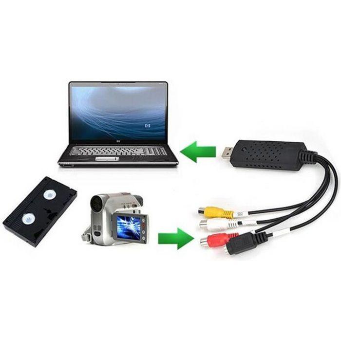 Convertisseur VHS vers USB Adaptateur PC TV Audio Vidéo DVD USB 2.0 WinXP / 2000