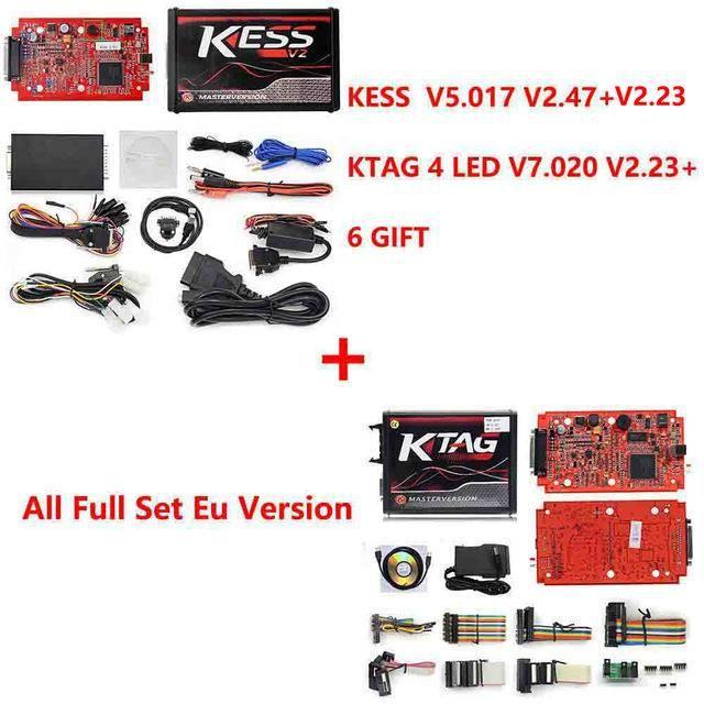 KESS V2 V2.47 V5.017 ue Rouge ECM Winols en titane KTAG V7.020 4 Version principale en ligne ECU OBD - Type eu kess wt eu ktag