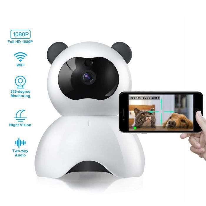 BABY PHONE - ECOUTE BEBE,Caméra famille sécurité enfant sécurité caméra Panda Style mignon caméra surveillance à - Type WHITE