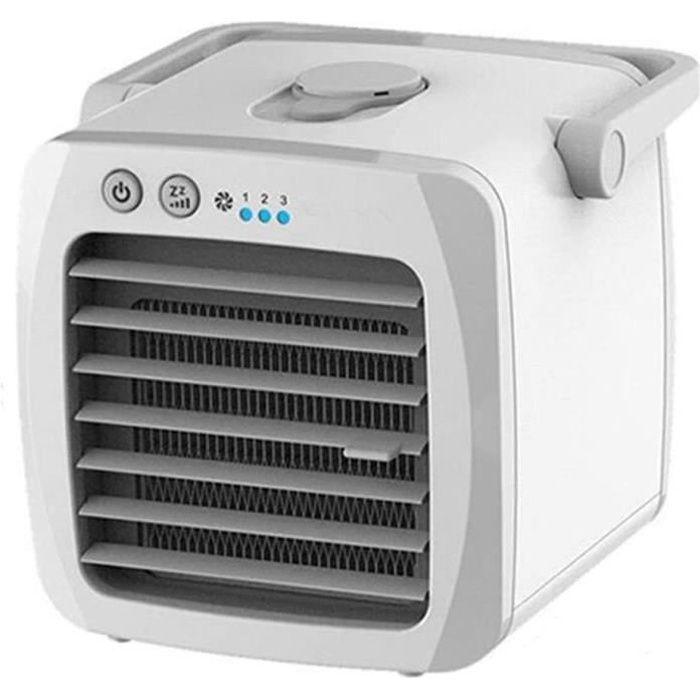 Climatiseur air Refroidisseur d'air, Mini Ventilateur Portable climatiseur pour la Chambre Maison air Refroidissement de Bureau USB