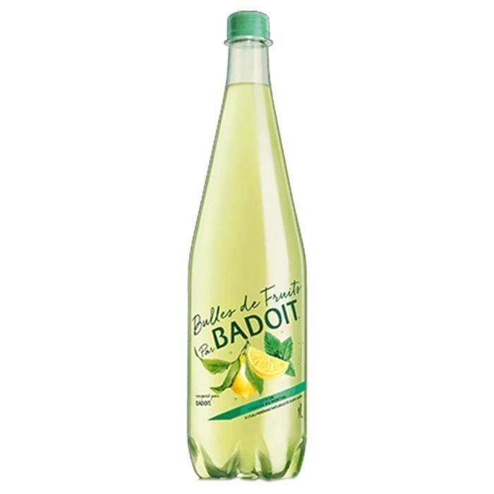 Badoit Bulles de Fruits Citron Touche de Menthe 1L (pack de 6)