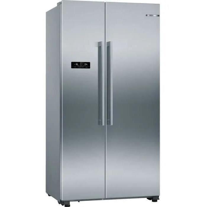 bosch - réfrigérateur américain 91cm 560l a++ nofrost inox - kan93vifp