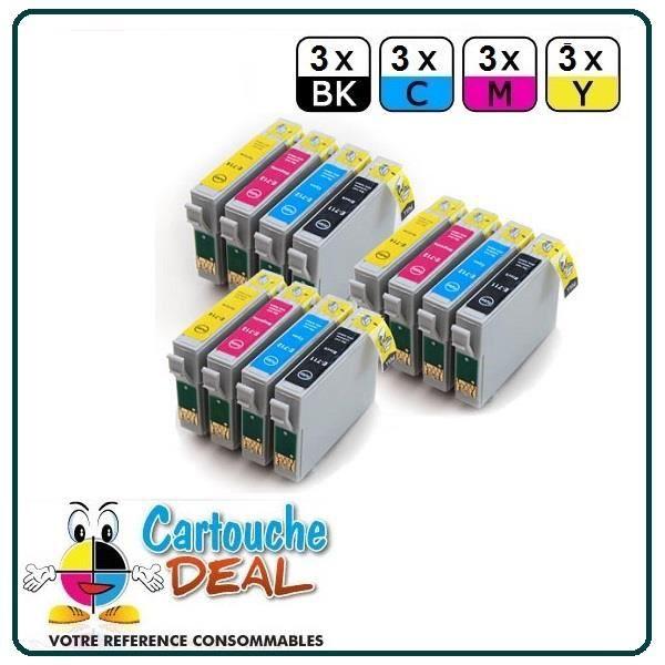 3+9 Cartouche générique compatible Epson T0711 T0712 T0713 T0714